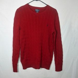 Polo Ralph Lauren Womens Cable Knit Red Size XL